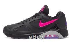 Nike Men's AIR MAX 180 Shoes Black/Pink Blast-Wolf Grey AQ9974-001 c