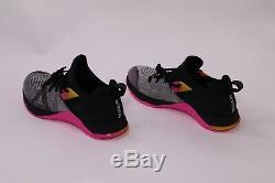 Nike Metcon Flyknit 3 Black Pink Grey Training Shoes AR5623-002 Women's Size 7