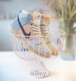 Nike Sb Dunk High Pro Easter Particle Grey/black-terra Blush New Us 10.5