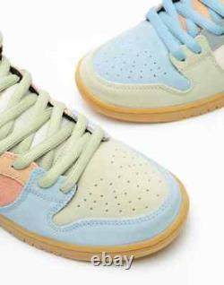 Nike Sb Dunk High Pro Easter Particle Grey/black-terra Blush New Us 12