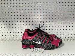 Nike Shox NZ ID Womens Leather Athletic Running Shoes Size 7 Black Pink Gray