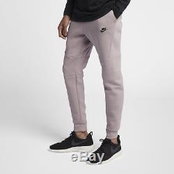 Nike Tech Fleece Joggers Pants Cuffed ROSE PINK GREY HEATHER BLACK 805162-684 L