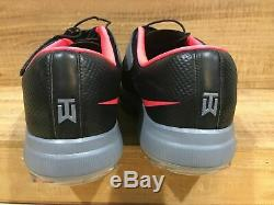 Nike Tw 17 Tiger Woods Golf Shoes Mens Size 11 Grey/pink Punch/black 880955-003
