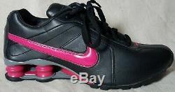 Nike Womens Shox Conundrum 407989 060 Black Sport Pink Dk Grey Sz 7.5 NICE CLEAN