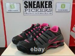 Nike Womens Shox NZ 636088 026 Black / Dark Grey Pink Blast Size 7