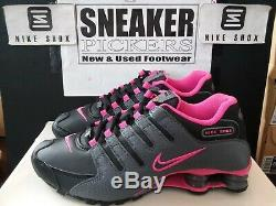 Nike Womens Shox NZ 636088 026 Black / Dark Grey Pink Sz 8 Authentic
