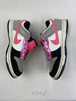 Nike Womens Size 7 SB Dunk Low 6.0 Fat Tongue Pink Gray Black Mens 5.5 2009