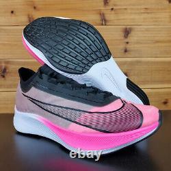 Nike Zoom Fly 3 Pink Blast Black Grey Carbon Fiber Mens Running Shoes AT8240-600