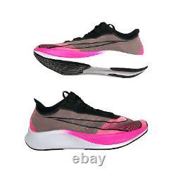 Nike Zoom Fly 3 Pink Blast Black Grey VaporWeave Mens 10 Running AT8240-600