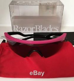 Oakley Razor Blades Pink Grey Black Sunglasses