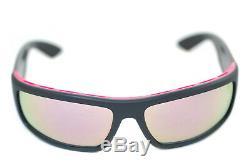 PRADA SPORT 02US 353-5L2 Mens Wraparound Visor Sunglasses MATTE BLACK GREY PINK
