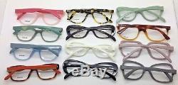 Prada Women wholesale lot Tortoise Black Gray Pink Ivory Square eyeglasses 52mm+