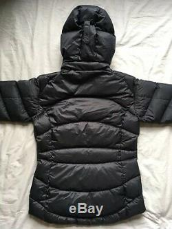RAB Women's Ascent Down Hooded Padded Jacket Coat 12 M Grey Black Pink BNWT