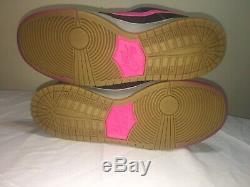 RARE Nike Dunk Low PRO SB Disposable (504750-061) black/pink/grey sz 11 2014