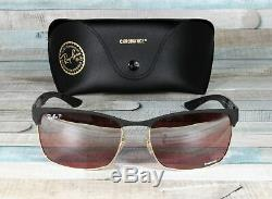 RayBan RB8319CH-9076K9 GLD MATTE BLACK red grey polar 60 mm Men's Sunglasses