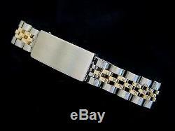 Rolex Date Ladies 2Tone 14K Yellow Gold & Steel Watch Jubilee Silver Dial 6917
