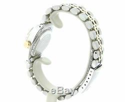 Rolex Datejust Ladies 2Tone 14K Gold & Steel Watch Pink MOP Diamond Dial 6917