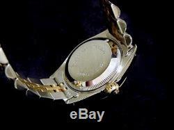 Rolex Datejust Ladies 2Tone 18K Yellow Gold Steel Watch Diamond Champagne 69173