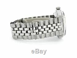 Rolex Datejust Mens Stainless Steel 18K White Gold with Jubilee Band Red Dial 1601