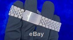 Rolex Datejust Mens Steel 36mm Watch 11 Carat Diamonds Iced Out Watch Best Deal