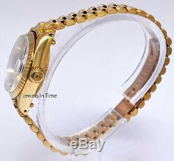 Rolex Datejust President 18k Yellow Gold Jubilee Dial Ladies Watch 6917