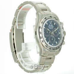 Rolex Men's Watch 40mm Cosmograph Daytona 116509 18K White Gold Blue Dial