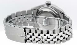 Rolex Mens Datejust Watch S/Steel & 18K White Gold Black String Diamond Dial
