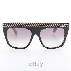 STELLA MCCARTNEY pink black chain grey gradient oversized sunglasses