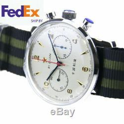 Seagull Chronograph Mens Wristwatch Pilot Reissue 304 1963 handwinding 42MM