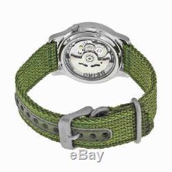 Seiko 5 Green Dial Green Canvas Men's Watch SNK805
