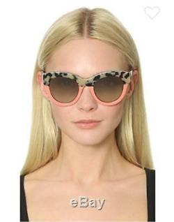 Stella McCartney Chain Brow Sunglasses BLK-GRY HAVANA PINK/Grey SC0018SA-2 NEW