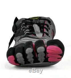 Vibram Five Fingers Womens KMD Sport LS W3753 Grey Black Pink Sz 40 / US 8.5 9