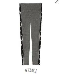 Victoria Secret PINK Campus S/S Oversized Tee Black Gray Leggings Set XL New