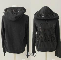 Victoria's Secret PINK Bling Hoodie+Campus Pants Grey/Black Large L Small S $150
