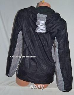 Victoria's Secret PINK Gray Black White Dog Fleece Lined Anorak Windbreaker XS/S