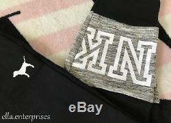 Victoria's Secret Pink Black Gray Marl White Skinny Collegiate Sweatpants M