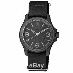 Victorinox Original Black Men's Quartz Military Watch 241517