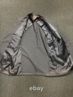 Vintage 1950s 50s Grey Wool Sport Coat Jacket Mens L Pink Black Fleck Rockabilly