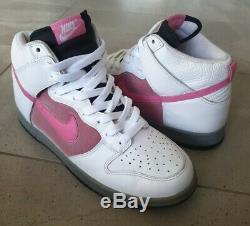 Vintage 2007 Nike Dunk High JP black pink white grey 9.5 9 SB pro air force 1