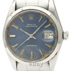 Vintage ROLEX Oyster Date Precision 6694 Steel Hand Winding Mens Watch BF340571