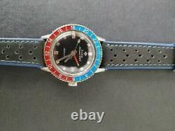 Vintage Zodiac Aerospace GMT Pepsi Bezel