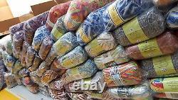 WHOLESALE JOB LOT 120 balls knitting WOOL yarn NEW megga sale mixed lot yarn