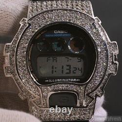 White Gold Finish Iced Out Custom G Shock Watch DW6900