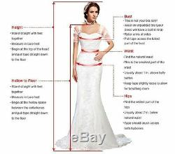 White Wedding Dresses Bridal Ball Gowns Lace Princess Off Shoulder Sweep Train