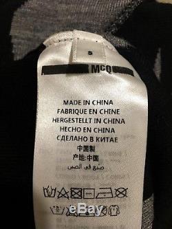 Women's Alexander McQueen McQ Swallow Dress Short Sleeve Grey/Black/Pink Size S