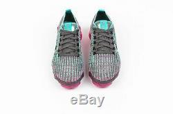Women's Nike Air Vapormax Flyknit 3 GUNSMOKE GREY PINK FUCHSIA BLACK CI7577-001