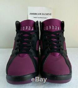 Wow AIR JORDAN 7 RETRO MULBERRY GS Sz 9.5Y BLACK Purple PINK Red GREY WOMEN 11