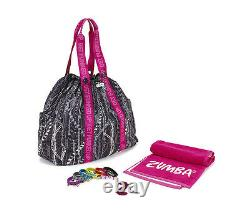 Zumba Tote Bag Duffel GIFT SET +Towell+KeyRing+Bacelets for Gym & Travel Jumbo