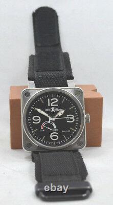 100% Authentic Bell & Ross Aviation Br01-97 Réserve De Marche Bracelet Homme Automatique