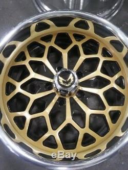17 Jantes En Aluminium Forgées Par Année De Flocon De Neige D'or De Roues De Pro Wheel Personnalisent Un